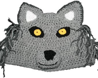 Hand Crocheted Wolf Hat HH054