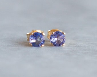 Tanzanite Stud Earrings - December Birthstone
