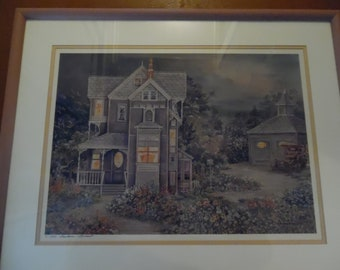Midsummers Night Water Color Limited Edition number 6/250 signed by Barbara Burnett. Her Studio is in Shawnee Mission, Ks