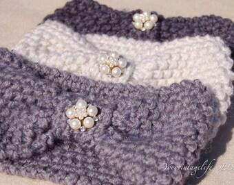 Gift for her, knit headband, Ear warmers, Christmas gift. Handmade winter ear cover