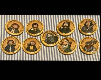 Lord of the Rings Fellowship of the Nine Buttons