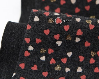 Slightly Brushed Rib Knit Fabric Hearts By The Yard