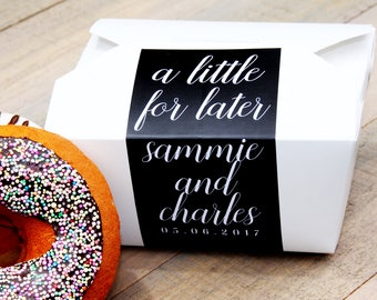 Cake Favor Box, Take Out Box, To Go Box, Favor Label, Cake Box, Favor Box, Doughnut Box, Cookie Box, Candy Box, Dessert Box, Wedding Sticker