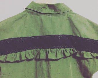 Dad's Olive Shirtdress
