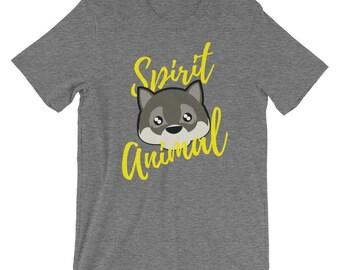 Cute Wolf Spirit Animal Tee Shirt