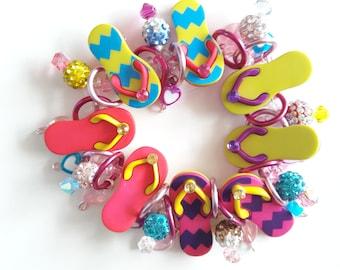 Flip flop bracelet/Beadiebracelet