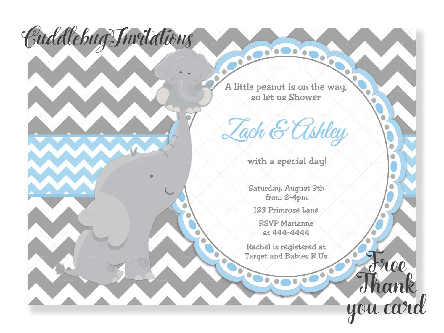 fullxfull elephant shower birthday banner zoom il party boy baby name listing