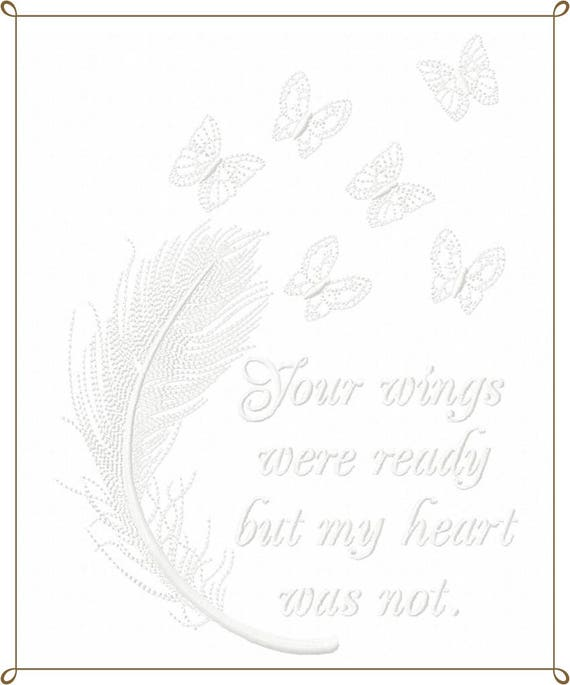 Your Wings were Ready set of two Machine Embroidery Design