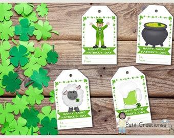 Gift tag Saint PATRICK'S day, tags printable, DIY, easter, spring, gift idea , printable tags, printable gift tags