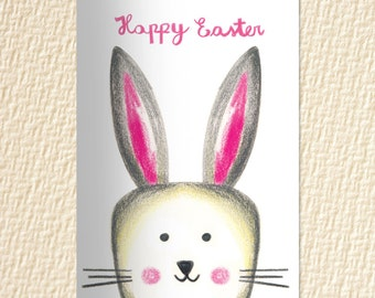 Easter cards Easter bunny Instant download Easter gift for kids Easter printable Greeting Cards Digital cards Greeting cards handmade