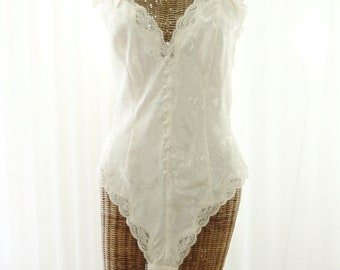 Victoria's Secret 90s Ivory White Teddy Zipper Back Medium