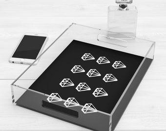 Acrylic vanity tray Etsy