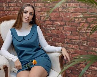 Mini dress with Collar