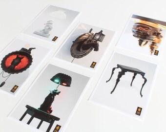 Ensemble de 6 cartes postales de néerlandais Monochromes