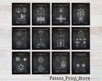 Nikola Tesla Patent Print Set. Tesla Patent Prints. Engineering Patent Prints. Tesla Coil Patents. Tesla Lamp Patent. Electric Circuit. 197
