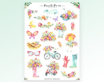 Blooming Planner Stickers- Deco 1