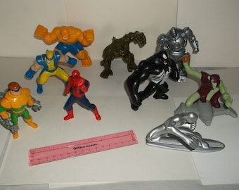 marvel-action figures-lot of 9-fast food 2-1990-fair