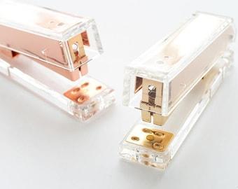 Acrylic Stapler Gold / Rose Gold - Modern Design Office Desk Accessory