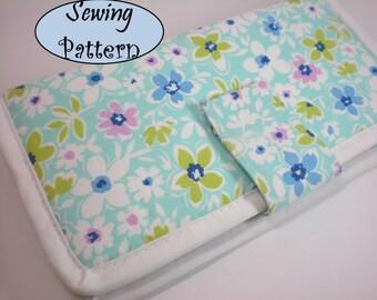 Bi-fold women Clutch womens wallet purse pdf sewing pattern patterns instant download tutorials pdf girls tutorial printable ebook epattern