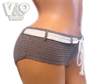 Crochet Shorts pattern PDF, Swimsuit, Crochet pattern, Bikini Bottom, boyshorts swimsuit