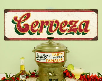 Cerveza Mexican Beer Wall Decal Cream - #62819