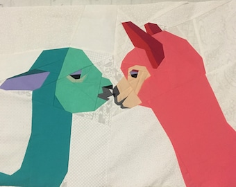 Kissing Alpacas Foundation Paper Piecing Pattern