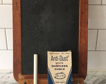 Antique Slate Chalkboard Table Counter Easel Farmhouse Memo Reminder Board Kitchen School House Hanging Chalk Ledge