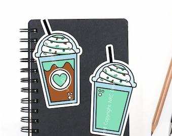 SALE Planner Die Cuts Printable, Planner Coffee Die Cuts, Mint Coffee, Food Die Cuts, Scrapbook Die Cuts, Planner Accessories - Office