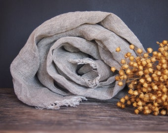 Linen Eco Scarf, Natural Linen Women Accessories, Linen Gift