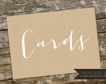 Cards Wedding Sign Printable, 5x7 JPG and PDF Rustic Wedding, Wedding Sign, Cards sign, Cards and Gifts Printable, Cards Table Printable