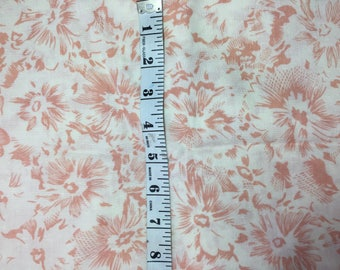 """peach and ivory fabric 2 + yards cotton blend 45"""" wide new"""