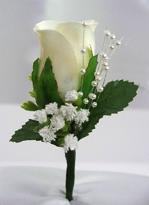 Wedding boutonniere ivory boutonniere rose corsage groom wedding boutonniere ivory boutonniere rose corsage groom boutonniere wedding corsage mens flower prom white silk wedding decorations mightylinksfo Choice Image