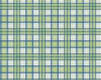 Jeep fabric J is for Jeep Plaid in Green by Riley Blake Fabrics 1 Yard