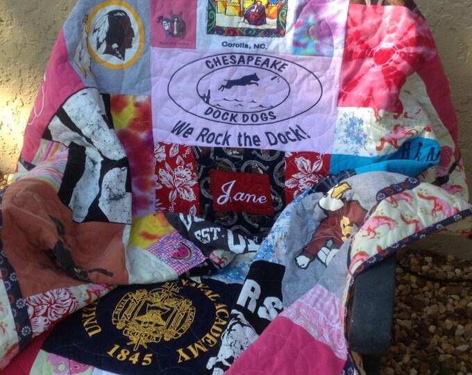 FRACTURED T shirt quilt