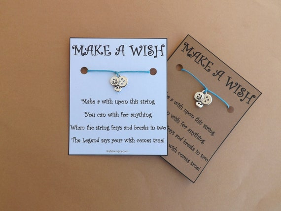 Sewing Buttons Card Wish Bracelet
