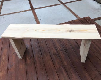 Unfished Pine Bench