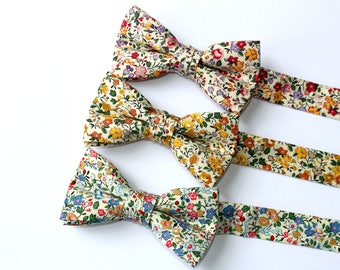 Boys Bow Ties~Floral Bow TieBoys Bow Tie~Boys Plaid Bow Ties~Cotton Bow Tie~Church Tie~ Wedding~Ring Bearer~