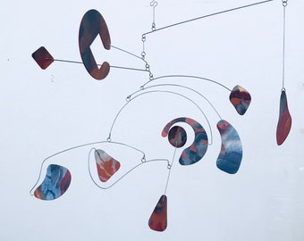 Mobile READY TO SHIP Beautiful Hanging Mobile Kinetic Sculpture for your Home