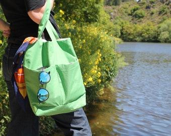 Colorful fabric handbag