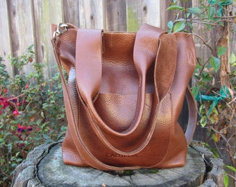 Leather tote, large leather tote, crossbody leather bag, leather tote woman, leather tote women, leather bag ARI- BROWN