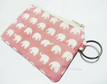 elephant, keyring women wallet, pink zip coin purse id1370643 business credit card case, coin purse, portemonnaie, gift, portefeuille, pouch