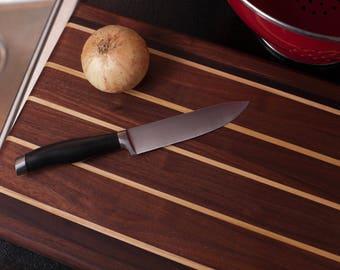 """Handcrafted walnut cutting board (14 5/8"""" X 11"""" X 1 1/4"""")"""