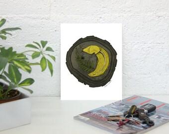 Banana Slug! Art Print Unframed