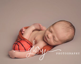Basketball, stuffed basketball, mini basketball, basketball photo prop, newborn photo prop, photo prop, baby basketball, baby boy, baby girl