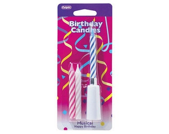 MUSICAL HAPPY Birthday Candles