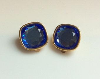 Gorgeous Blue SAL Square Earrings - Swarovski, Something Blue, Wedding Ready