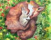 Fox Woodland Watercolor P...