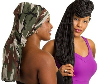 Poly-knit Hair Sock/ Bonnet for Long hair, Braids/Twists & DreadLocks
