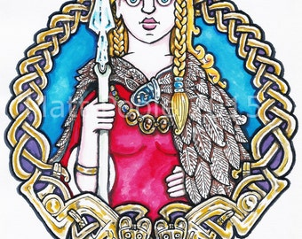 Freyja Greetings Card