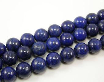 Pearls Lapiz lazuli 10 mm blue set of 4